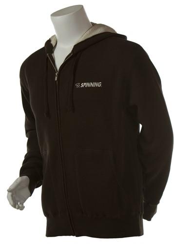 Thermal Zip Hooded Jacket Brown
