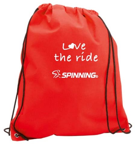 Love the Ride Drawstring Bag Red
