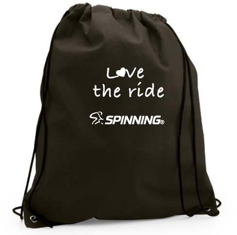 Love the Ride Drawstring Bag Black