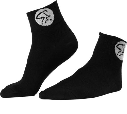 Medallion Socks Black/White
