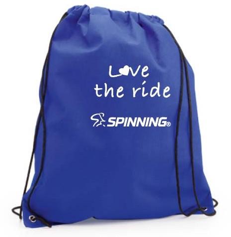 Love the Ride Drawstring Bag Blue